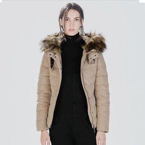 NWT Zara Quilted Anorak